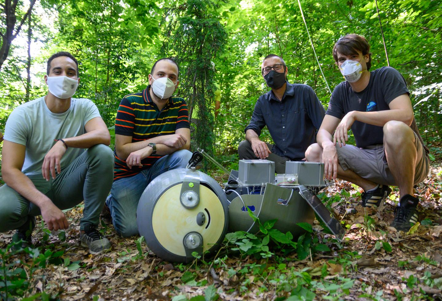 SlothBot research team. Photo via Georgia Institute of Technology.