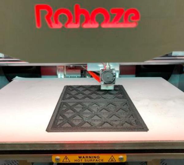 3D printing certification the panels. Photo via MPU.