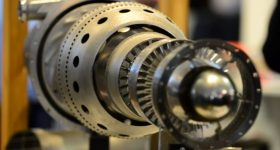 Amaero and Monash University's 3D printed jet engine. Photo via Amaero.