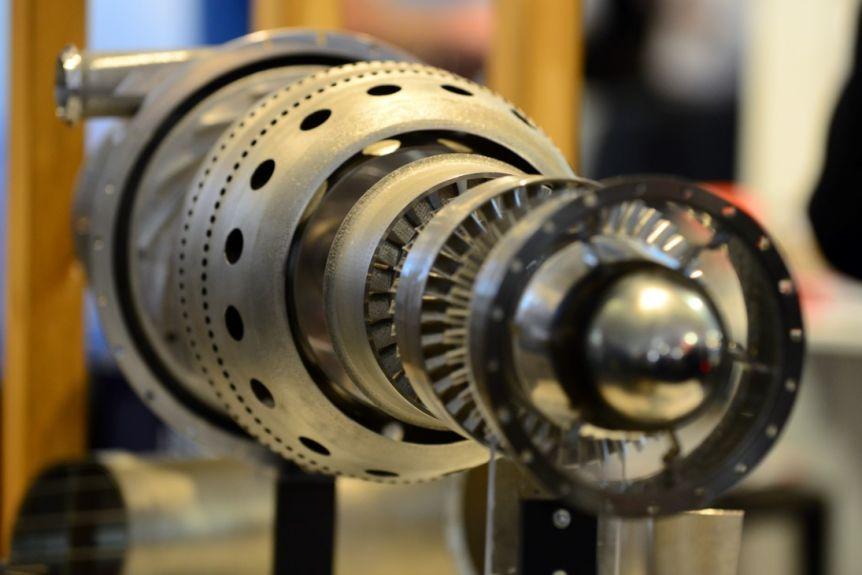 Amaero and Monash University's 3D printed jet engine. Photo via Amaero.