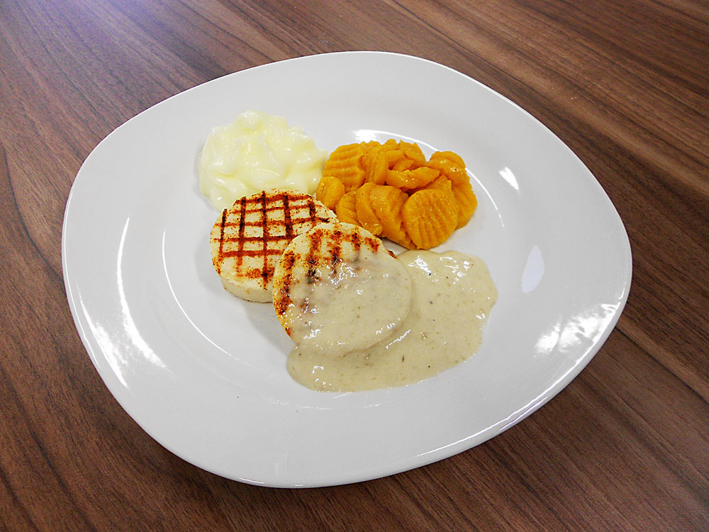 Previous 3D printed meals such as that by Biozoon (pictured) have focused on texture and shape. Photo via Biozoon.