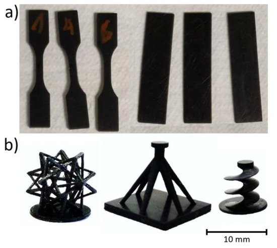 DLP printed composite parts. Photos via RJCU.