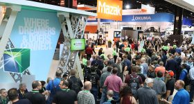 Featured image shows the IMTS trade show in 2018. Photo via IMTS.