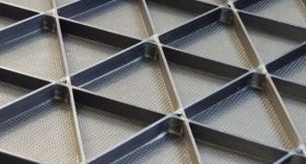 Isogrid panel structure. Photo via Isogrid Composites.
