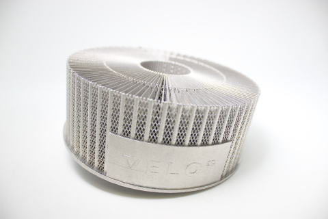 VELO3D 3D printed part. Photo via VELO3D.