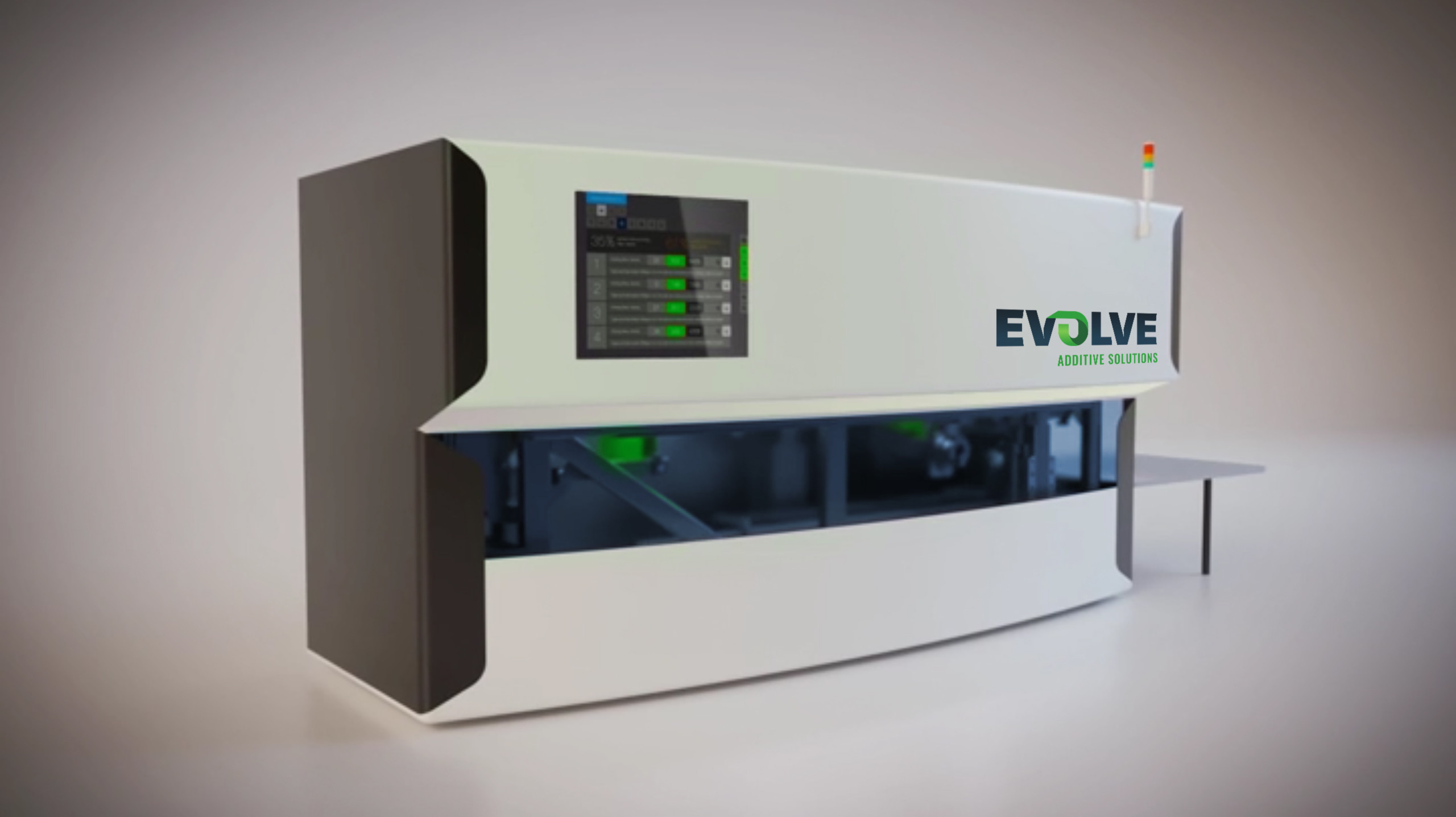 The Evolve STEP 3D printing system. Photo via Evolve.