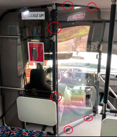 3D printed fittings on the bus. Photo via GoProto.