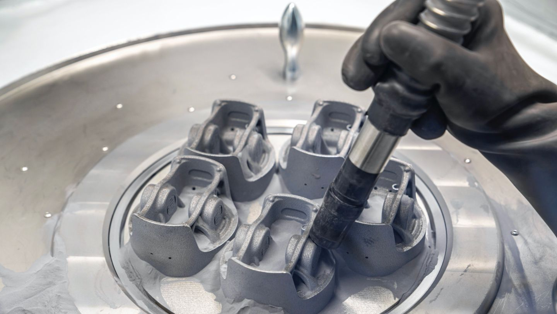 Porsche's 3D printed pistons passed initial validation testing. Photo via Porsche.