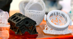 Featured image shows a range of 3D printed models produced using Prismlab's AM materials. Image via Prismlab.