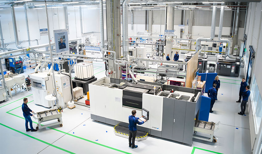 BMW's new additive manufacturing campus will house around 50 percent of the automotive company's global 3D printing capacity. Photo via The BMW Group.