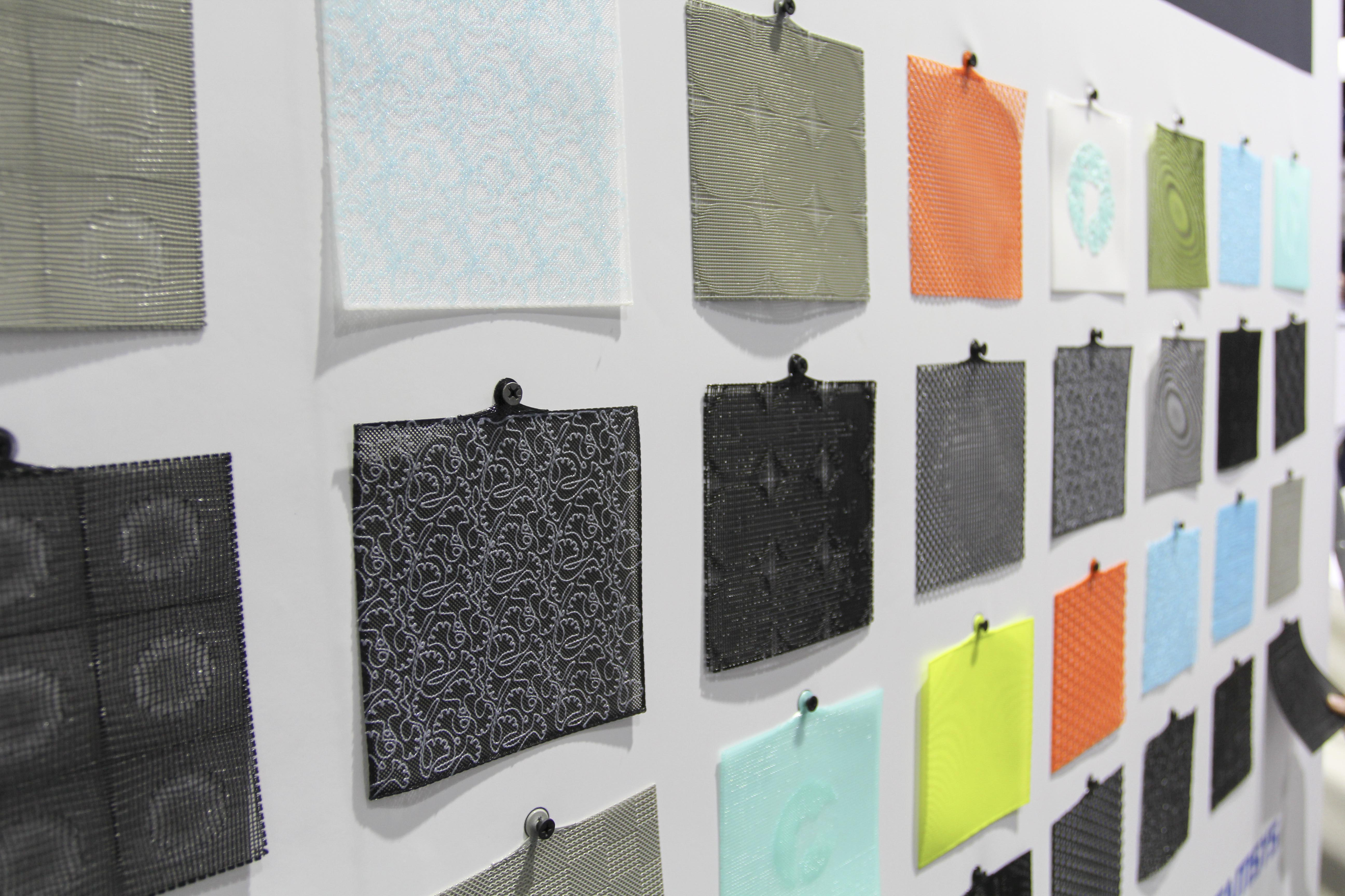 The fabrics being debuted at a trade show in Shanghai. Photo via Polymaker.