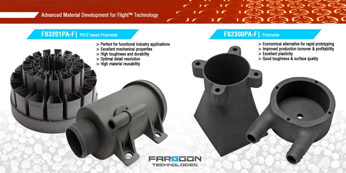 Farsoon's new materials. Image via Farsoon.