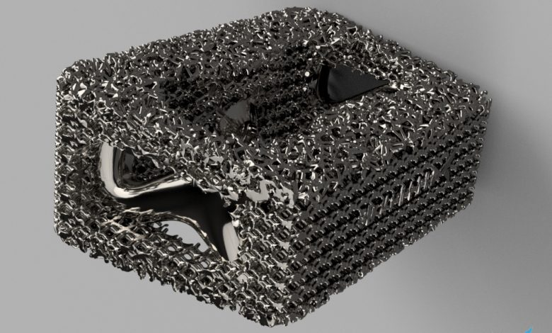 The Linde Group is working with 3D Medlab to 3D print lattice structures (pictured) for applications in the medical industry. Image via the Linde Group.