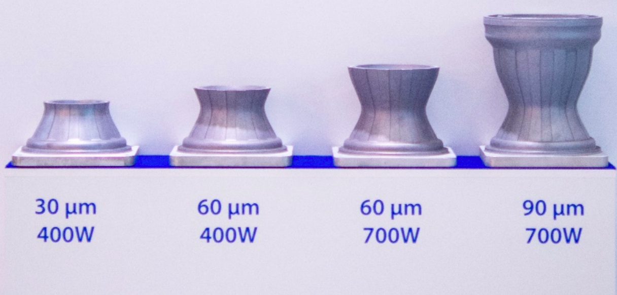 According to SLM Solutions, the high layer thicknesses enabled by its new 3D printing parameters, could lead to higher productivity and increased build rates in aerospace parts. Image via SLM Solutions.