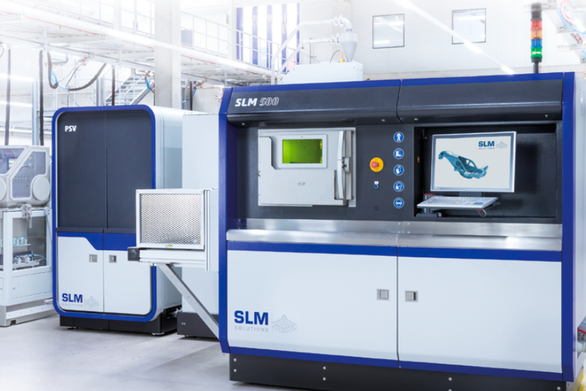 Honeywell used an SLM 500 3D printer to test and develop the new settings alongside SLM Solutions. Photo via SLM Solutions.