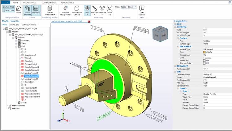 The HOOPS platform is centered around developing 3D engineering software. Image via Tech Soft 3D.