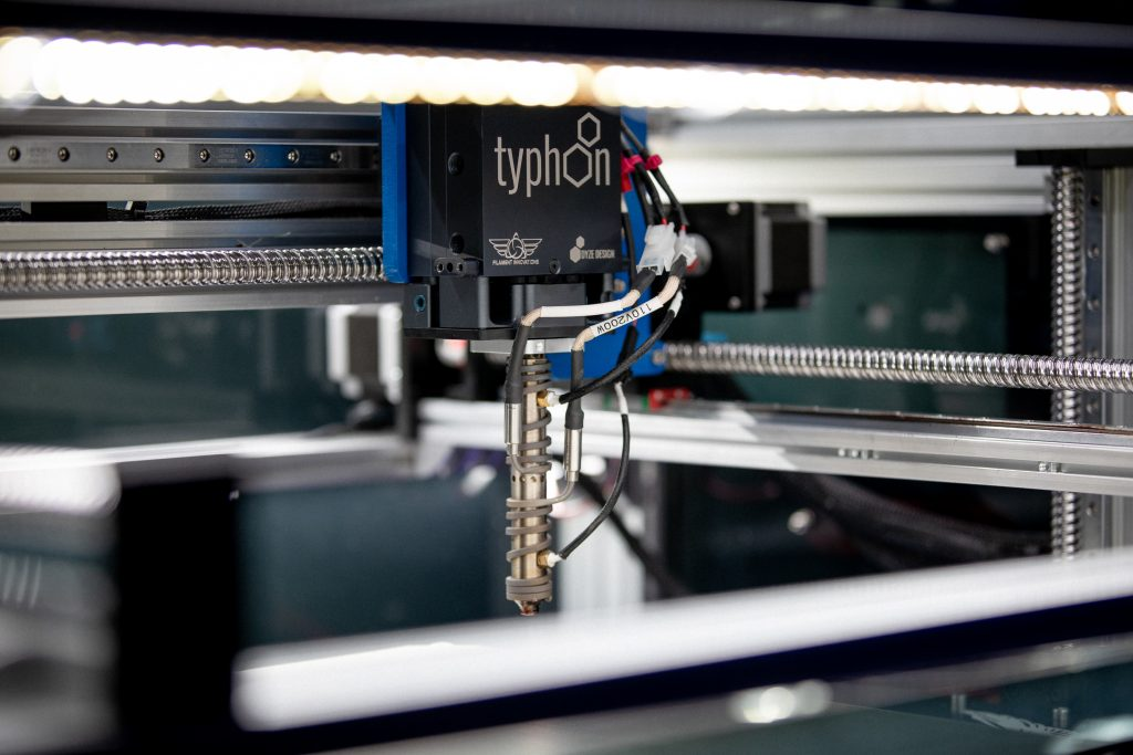"""The Typhoon™ """"beta version"""" mounted on Filament Innovations BFP-ICARUS. Photo via Dyze Design."""