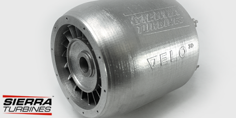Using VELO3D's newly qualified Hastelloy X 3D printing material, Sierra was able to create a micro-turbine engine prototype. Image via VELO3D.