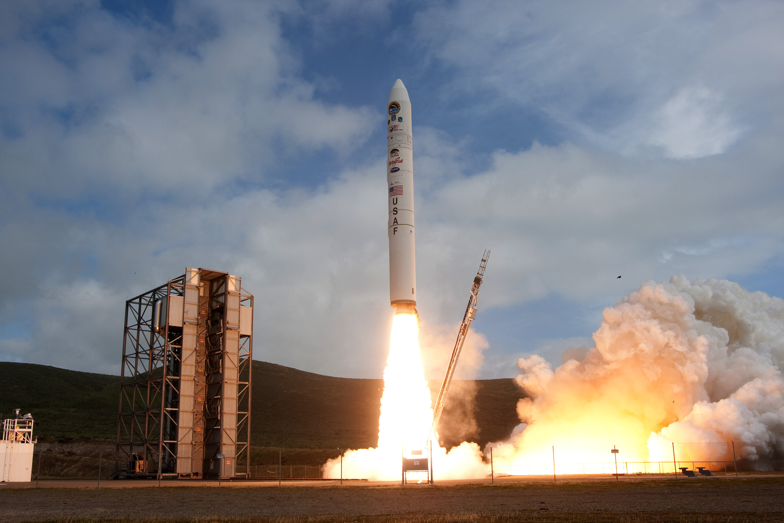 Vandenberg Air Force Base has been the site of many rocket launches in the past, including the Minotaur IV (pictured). Photo via Vandenberg Air Force Base.