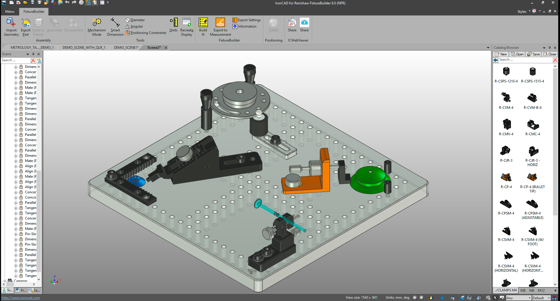 The FixtureBuilder UI. Image via Renishaw.