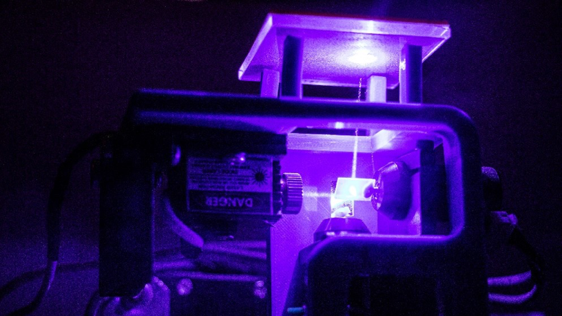The research duo's ILS 3D printing certification technique (pictured) allowed more than one powder to be used in the construction of a component. Photo via Columbia University.