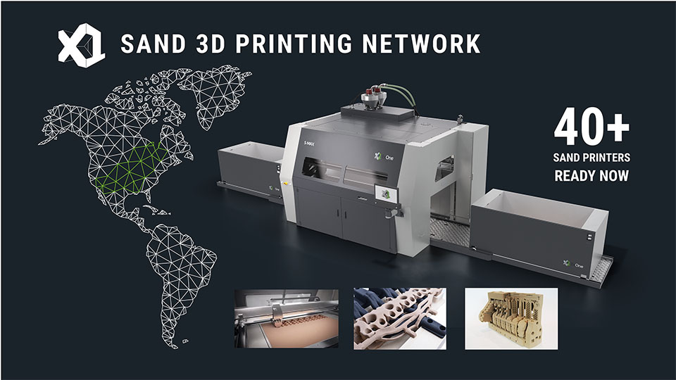 The ExOne Sand 3D Printing Network. Image via ExOne.