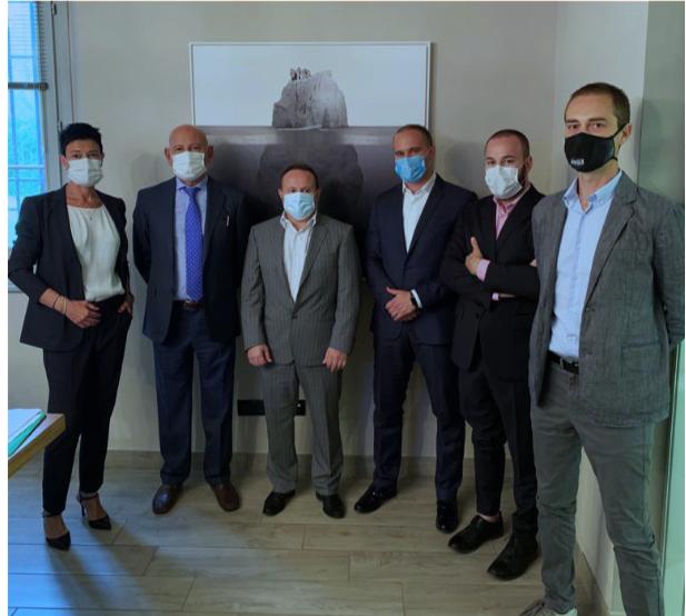 BEAMIT Group board: Cristina Bo, Mauro Antolotti, Sauro Zanichelli, Andrea Pasquali, Michele Antolotti, Andrea Scanavani. Photo via BEAMIT