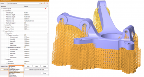 The SLM support module now contains new support types and parameters. Image via VoxelDance.