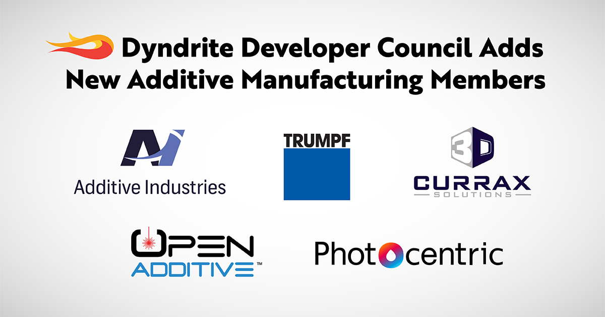 New members welcomed to Dyndrite Developer Council. Image via Design World.