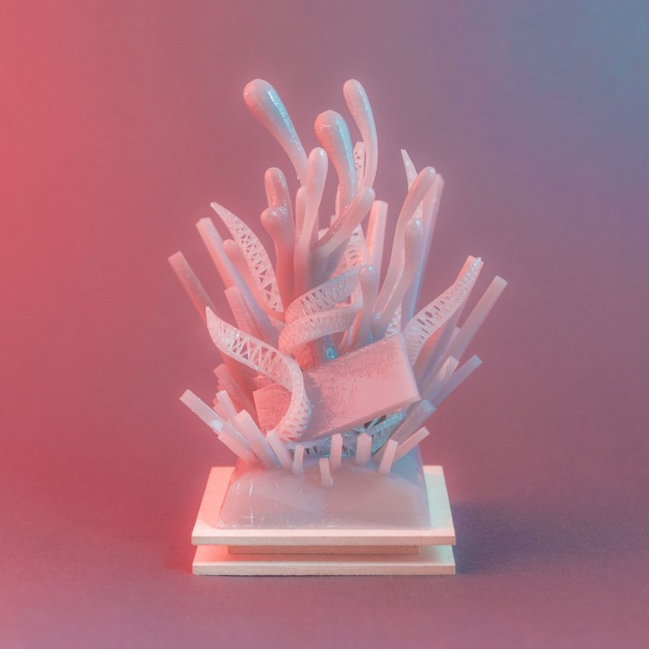 Devin Montes (aka Make Anything) created this coral-inspired design for the 2018 version of the Trophy Design Competition. Image via 3D Printing Industry.