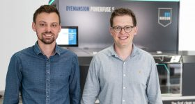 Felix Ewald (pictured right) expressed his delight at the results of the company's latest funding round. Photo via DyeMansion.