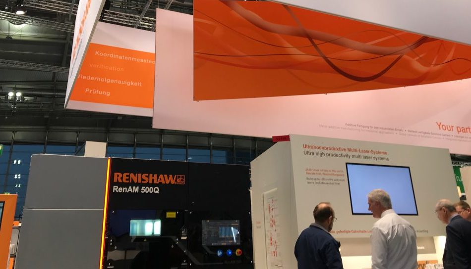 Renishaw's RenAM 500Q system (pictured) continued to be a key driver of Renishaw's revenue during FY 2020. Photo via Beau Jackson, 3D Printing Industry.
