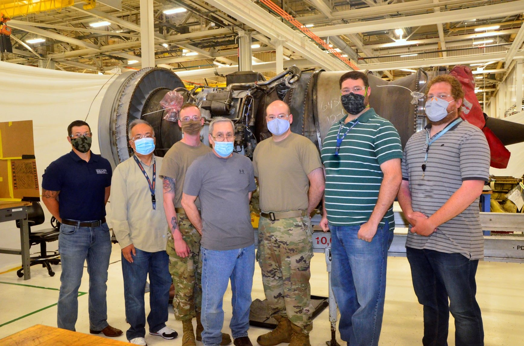 Members of the Oklahoma City Air Logistics Complex who worked on the project. Photo via Oklahoma City Air Logistics Complex.
