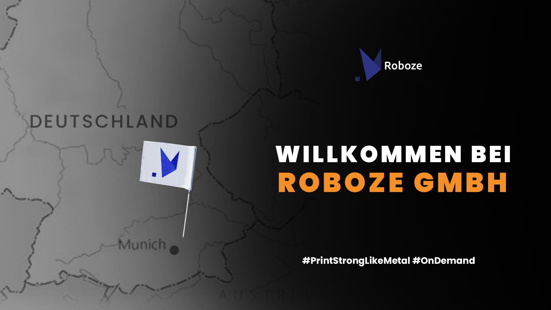 ROBOZE has opened a new 3D printing facility in Munich with the aim of expanding its business in Germany. Image via ROBOZE.