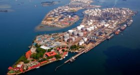 Shell's Pulau Bukom manufacturing site. Photo via Shell Singapore.