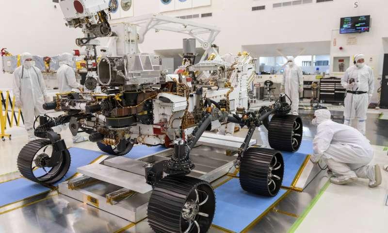 The Mars 2020 Perseverance rover. Photo via NASA.