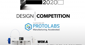 The winner of this year's 3D Printing Awards Trophy Design Competition will win a Craftbot Flow IDEX XL 3D printer. Image via 3D Printing Industry.
