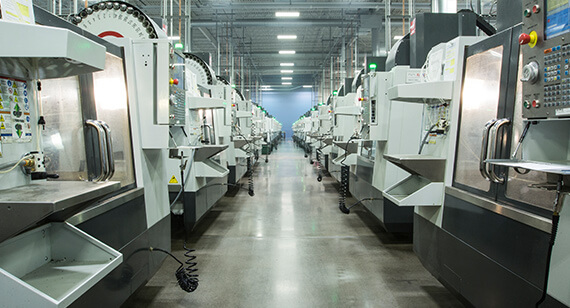 Featured image shows a Protolabs CNC machining facility. Photo via Protolabs.