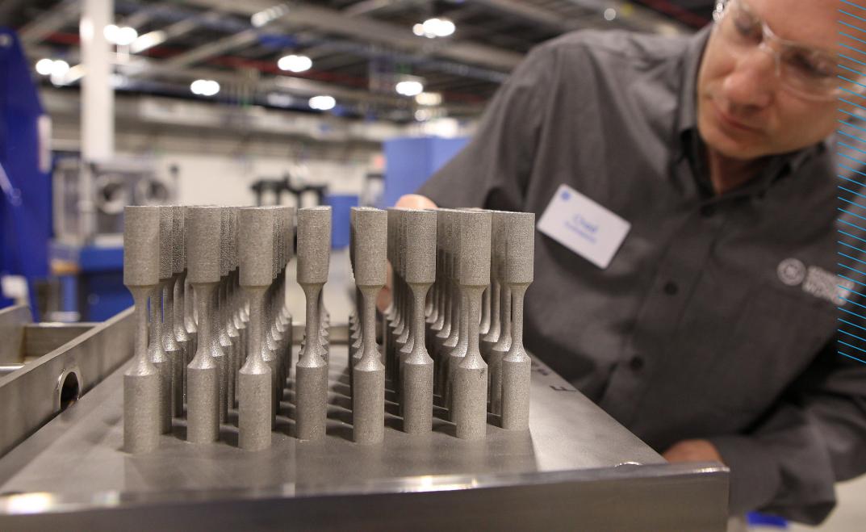 3D printed metal components. Photo via EWF.