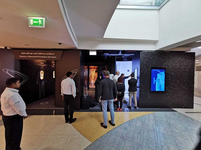 Texel's virtual fitting room installation in Dubai. Photo via Texel.