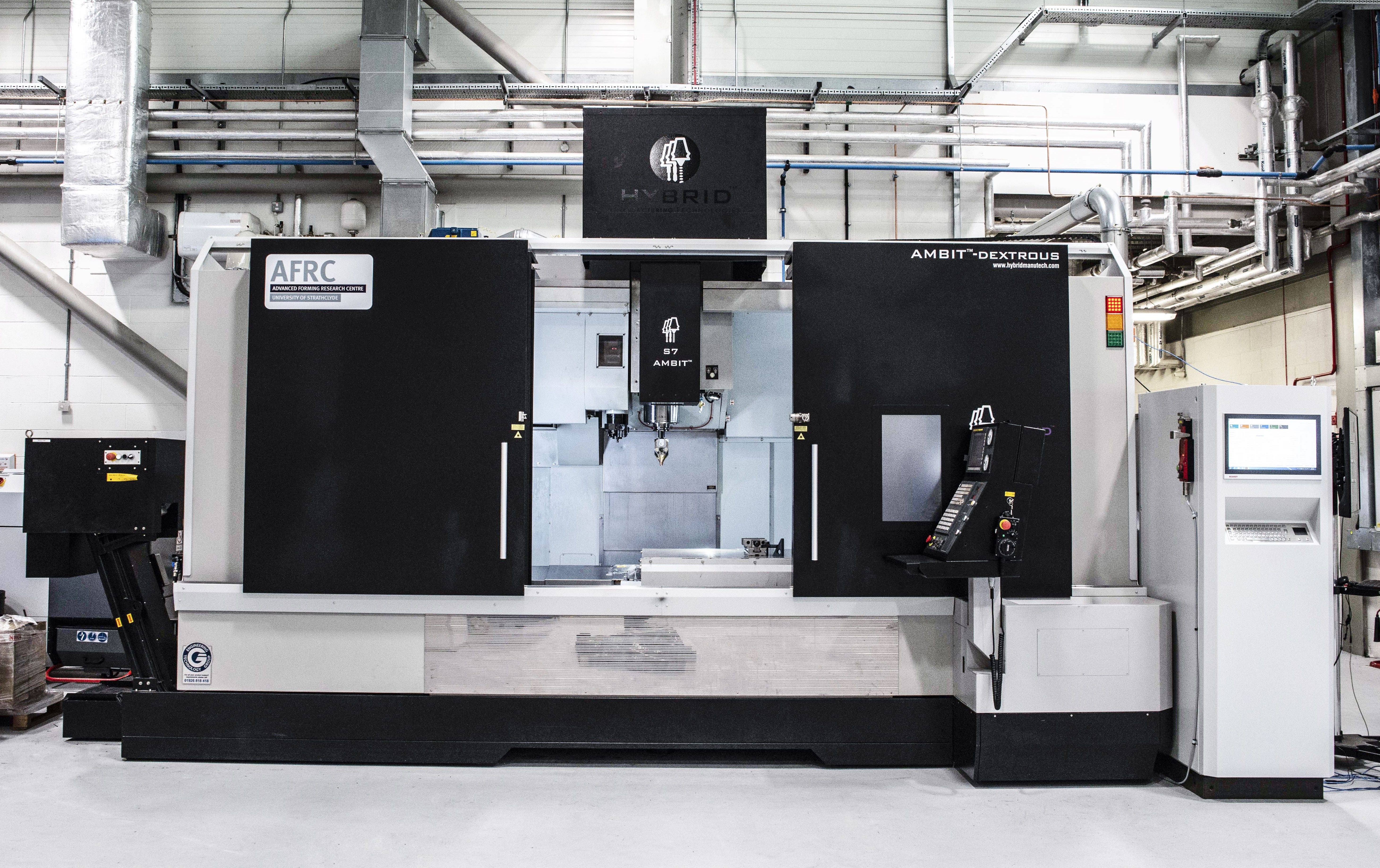 The University of Strathclyde has used an LMD hybrid additive manufacturing system (pictured) for their collaborative project. Photo buy NMIS.