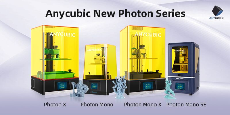 Anycubic's new line of Photon 3D printers. Image via Anycubic.
