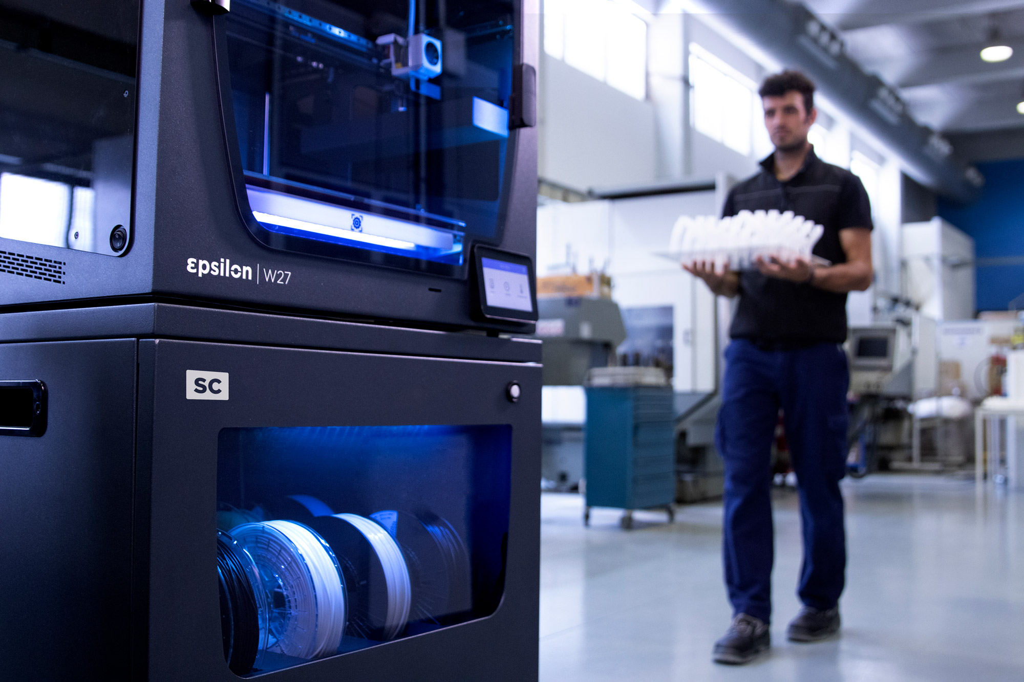 BCN3D has released a Smart Cabinet to go alongside its new W27 3D printer, which is designed to optimize its performance. Photo via BCN3D.