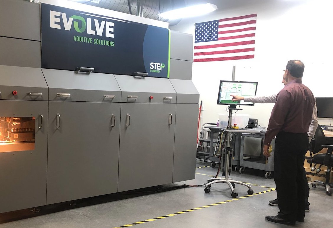 Evolve is planning to launch its STEP 3D printing technology later this year. Image via Evolve Additive Solutions.