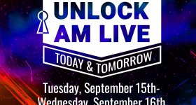 Featured image shows the Unlock AM LIVE logo. Image via PostProcess.