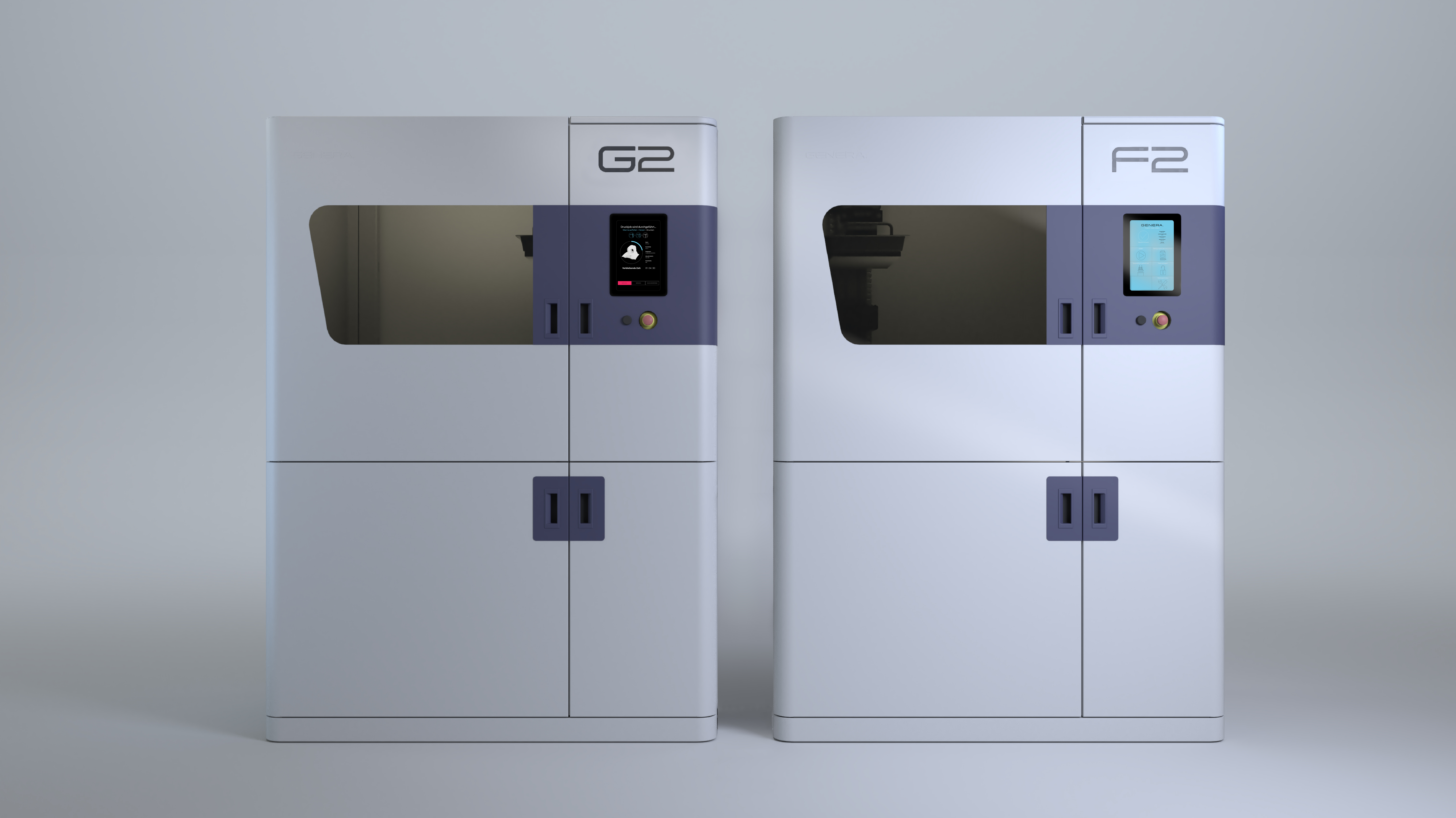 Genera's new systems feature its shuttle technology, which allow parts to be produced and post-processed without needing to be handled. Image via Genera.