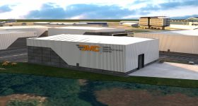 Render of the Digital Manufacturing Center. Image via AMFG. MES