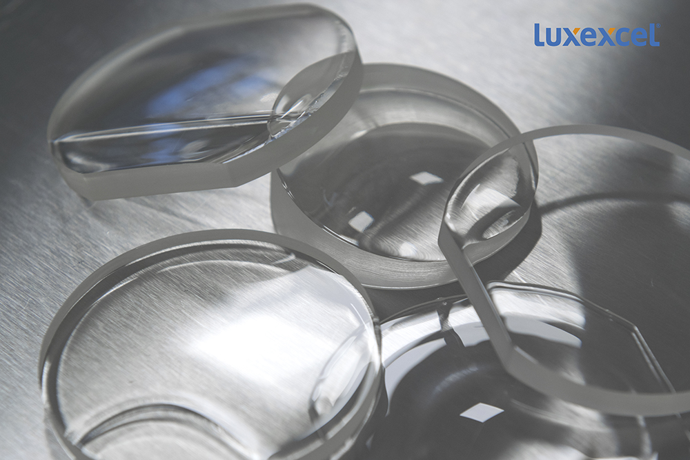 Luxexcel's 3D printed prescription lenses. Photo via Luxexcel.