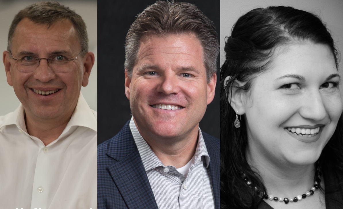 PostProcess' Bruno Bourguet (left) and Jeff Mize (center) will speak at the online event, while Sarah Goehrke (right) is set to chair both panel discussions on 3D printing. Images via PostProcess.