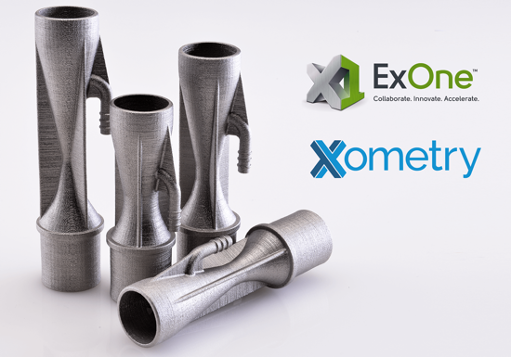 The deal between ExOne and Xometry will see ExOne become the exclusive provider of binder jetting service within Xometry's RFQ marketplace. Photo via ExOne.